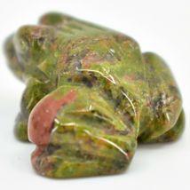 Unakite Jasper Gemstone Tiny Miniature Frog Figurine Hand Carved in China image 3