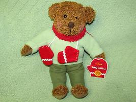 "HALLMARK TEDDY MITTENS CHRISTMAS BEAR STUFFED ANIMAL WITH TAGS 13"" PLUSH... - $23.38"