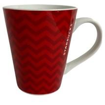 Starbucks Coffee Tea Mug Cup Coco 2013 Chevron Print Red White Gift Repl... - $14.49