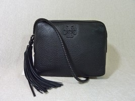 NWT Tory Burch Black Pebbled Leather Taylor Camera Cross Body Bag $350 - $314.82