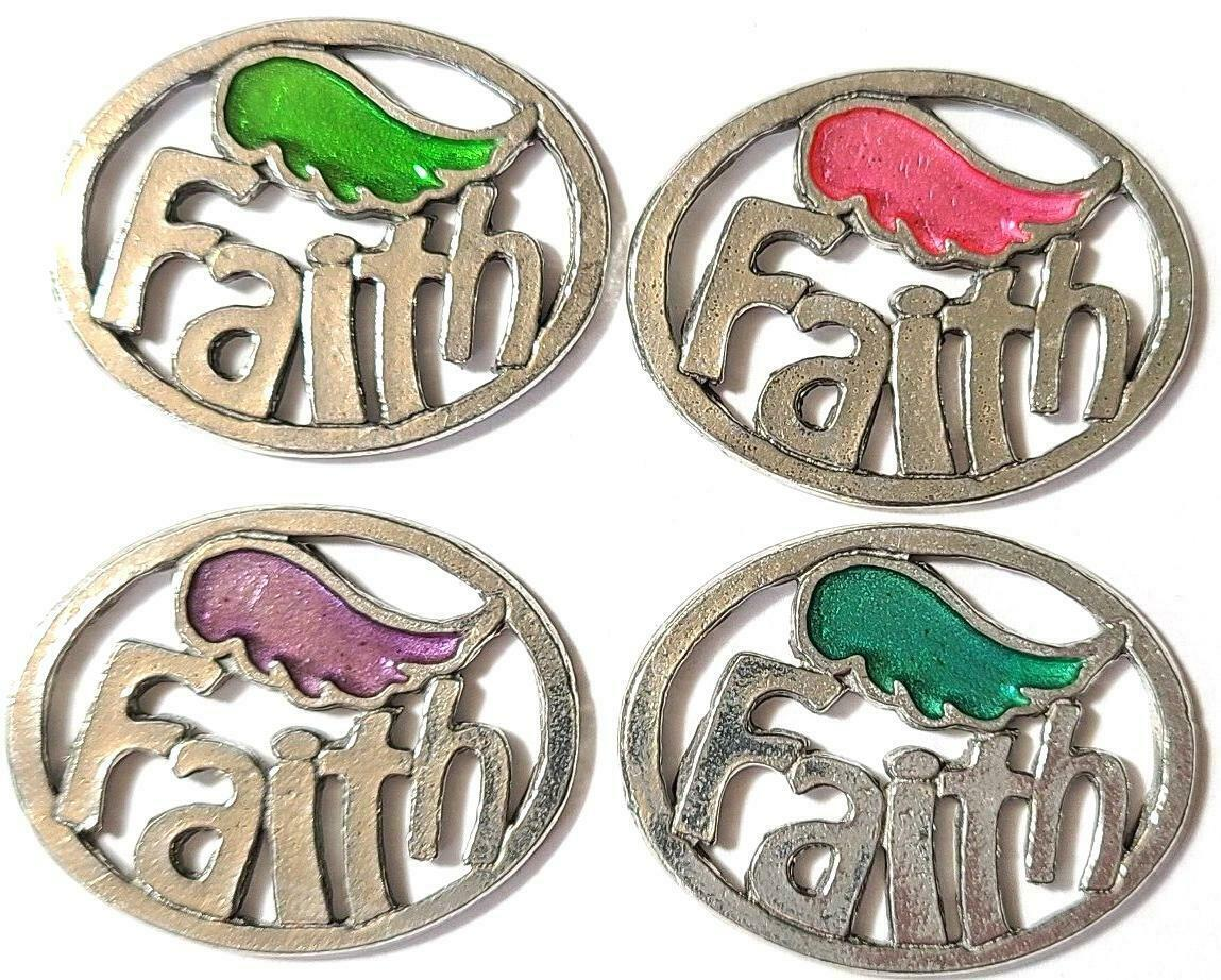 FAITH Fine Pewter Pendant Approx. 1-1/2 inches wide