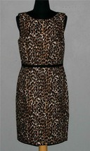 ANN TAYLOR LOFT Leopard Print Sleeveless Sheath Dress Wm's 6 NWT 79.50 - $44.99