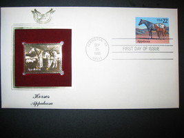 1985 HORSES APPALOOSA 22kt Gold Golden Replica Cover STAMP - $5.19