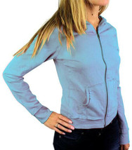 Levi's Juniors Basic Classic Cotton Athletic Hoodie Jacket Sweater Sky Blue M