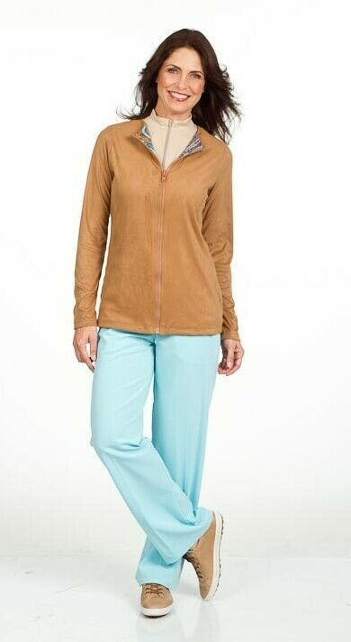 Tan Golf Micro-Suede Stylish Jacket - New - GoldenWear image 5