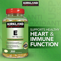 Kirkland Signature Vitamin E 180mg Antioxidant 500 Softgel Freeshipping - $18.37