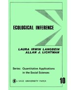Ecological Inference (Quantitative Applications in the Social Sciences) ... - $2.25