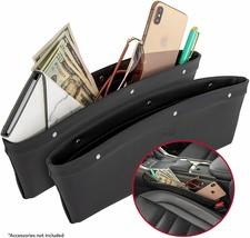 2 in 1 Car Seat Gap Organizer | Universal Fit | Storage Pockets Adjust 2 Pack image 1