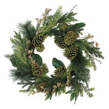 """Northlight 24"""" Artificial Berries and Pine Cone Decorative Holiday Wreath - $58.15"""