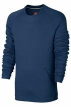 NIKE TECH FLEECE CREW SWEATSHIRT BLUE MEN SIZE XXL NEW WITH TAGS 805140 423 - $84.14