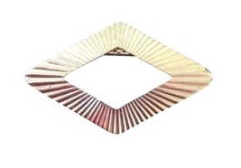 Vintage Costume Jewelry Brooch Pin Brushed Gold Colored Diamond Shape RL180 - $16.82