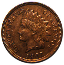 1907 Indian Head Penny / Cent Coin Lot# MZ 3598