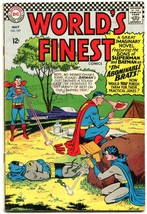 WORLDS FINEST #157 1966-BRATS!!!- SONS BATMAN-SUPERMAN VG - $31.53