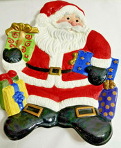 """Fitz & Floyd Handcrafted Holiday Christmas Santa Plate Dish Container 9.5""""  - $29.95"""