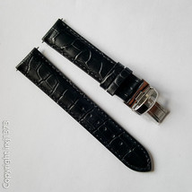 Black Leather Strap Watchband for Tissot T461 T014417A T171186A 19mm - $36.63