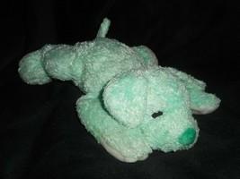 Ty Almohada Pals Cuddlepup 2001 Verde Cachorro Sonajero Peluche Plush Toy - $21.88
