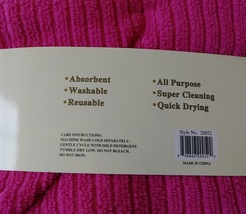 "APPLE HEART MICROFIBER TOWELS 6-pack Dishcloths 12""x12"" Pink Dish Cloths Apples image 7"
