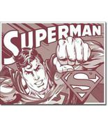 New DC Comics Superman Retro Duotone Decorative Metal Tin Sign - $9.41