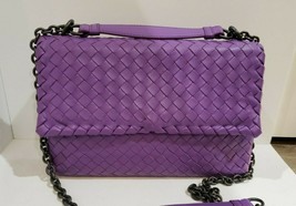 100% Authentic Bottega Veneta Small Olimpia Bag in purple. Pristine Cond... - $1,053.39
