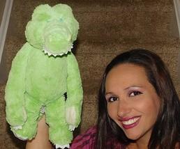 "15"" HUG-A-LONGS Baby Ganz Green Alligator Rattle Soft Stuffed Animal Plush Toy - $33.65"
