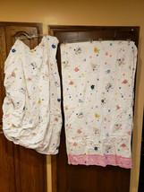 Disney's Home Twin Bed Sheet & Blanket Princess Pixie White Blue Yellow ... - $31.99