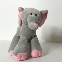 "Toys R Us Elephant Plush Stuffed Animal Beanie 2014 9"" Tall Gray Pink So... - $25.74"