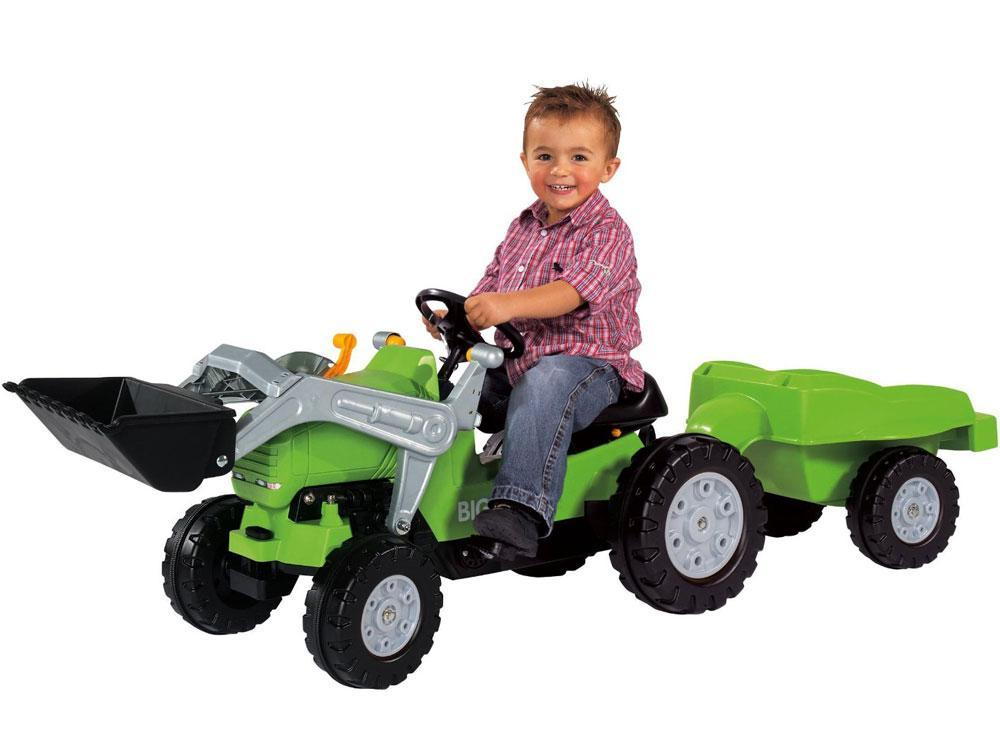 Big Jimmy Pedal Tractor Loader plus Trailer Kids Ages 3+