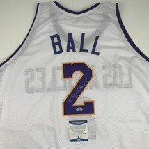 Autographed/Signed LONZO BALL Los Angeles Lakers White Jersey Beckett BA... - €222,74 EUR