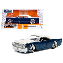 1963 Lincoln Continental Navy Blue with White Top 1/24 Diecast Model Car... - $30.60