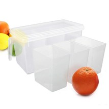 Refrigerator Organizer Container - Clear with Lid, Handle and 3 Smaller ... - $9.19