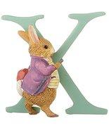 Beatrix Potter Old Mr Benjamin Bunny letter X Enesco figurine NEW in gif... - $18.50