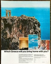 1968 Greek National Tourist Office PRINT AD Which Greece Will You Bring ... - $11.89