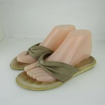 Timberland Flip Flop Thong Sandals Shoes Womens Size 6.5M Tan Slides Summer Shoe - $17.75