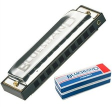 Hohner BluesBand Harmonica Key of C Blues Band Stainless Steel - $7.76