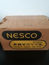 Nesco Fryryte Automatic Electric Deep Fryer Vintage Chrome No N-140 In Box - $44.50