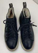 Dr. Martens LESBOOTFL Black Leather Faux Fur Lined Ankle Boots Women's Sz 8 US - $78.39