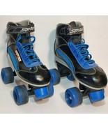 Sprites 500 Roller Derby Roller Skates Youth size 3 Black Blue Silver White - $14.01
