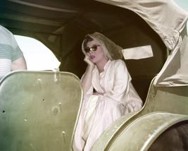 Susan Hayward in The Conqueror in car on Set Head Scarf Sunglasses Movie Star Lo - $69.99