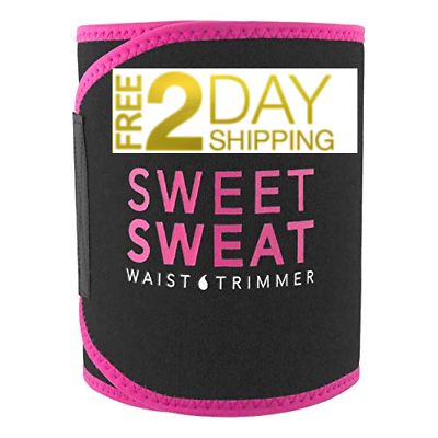 Primary image for Sports Research Sweet Sweat Premium Waist Trimmer (Pink Logo) for Men & Women...