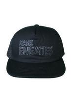 Another Enemy Black Make Enemies Adjustable Snapback Trucker Baseball Hat NWT