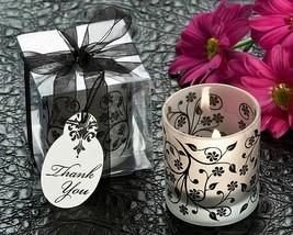 Frosted Elegance Black and White Tea Light Candle Holder (Set of 4) - $13.09