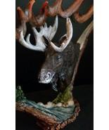 Moose Resin Vista Antlers Figurine Wild Game Western Lodge Regal Elite - $29.69
