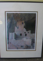 FRAMED PHOTOGRAPH PRINT OF MESA VERDE CLIFF FACE, BY MATTHEW CHALOM - $103.94