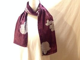 Gorgeous Combo Scarf Velvet and Satin floral vintage rose abstract color choice image 12