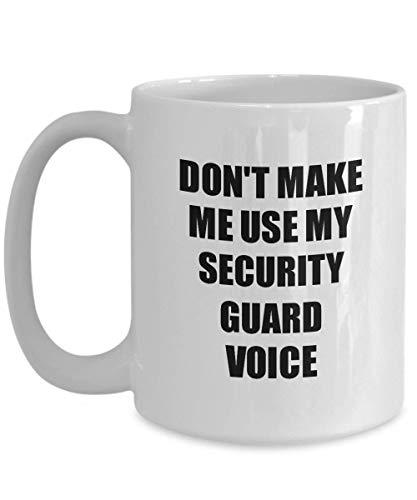 Primary image for Security Guard Mug Coworker Gift Idea Funny Gag for Job Coffee Tea Cup 15 oz