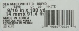 Lion RN17991 Sea Maid White Acetate Ribbon 100 Yard Spool image 4