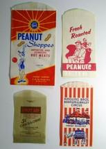 Peanut Bag Lot Fresh Roasted Ringling Brother Circus Clowns Elephant Mon... - $21.38