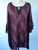 NOTATIONS Women Stretch Black key hole tab sleeve Shirt Top Blouse Size Plus 1XL - $11.29