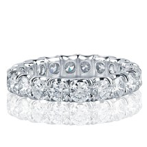3 Carat Round Cut Diamond Eternity Wedding Band 18k White Gold - £3,511.56 GBP+