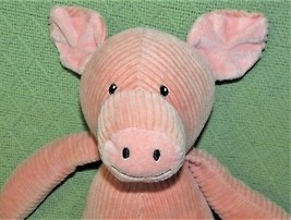 "PINK Corduroy Pig Plush Melissa & Doug Ribbed Stuffed Animal 15"" Floppy ... - $9.95"